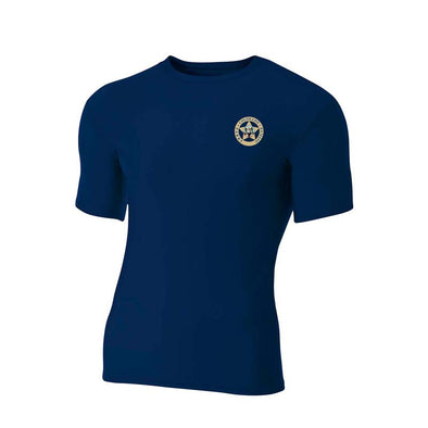 A4 Adult Polyester Spandex Short Sleeve Compression T-Shirt