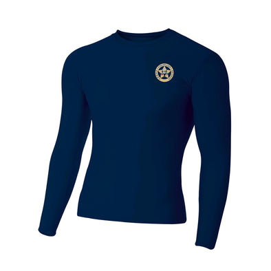 A4 Adult Polyester Spandex Long Sleeve Compression T-Shirt
