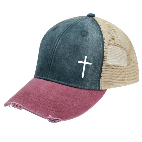 Cross -  Distressed Cap