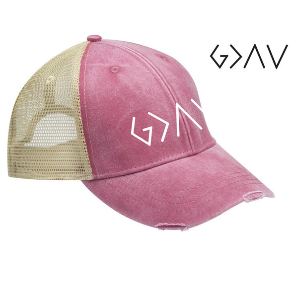 God Is Greater -  Distressed Cap