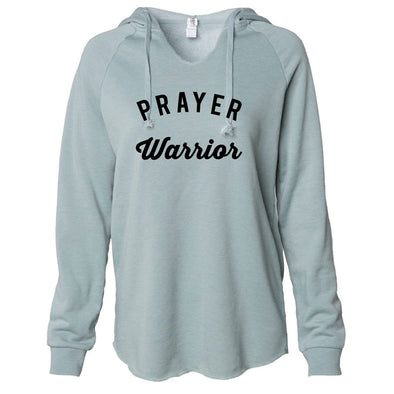 Prayer Warrior - California Wave Wash Hooded Pullover