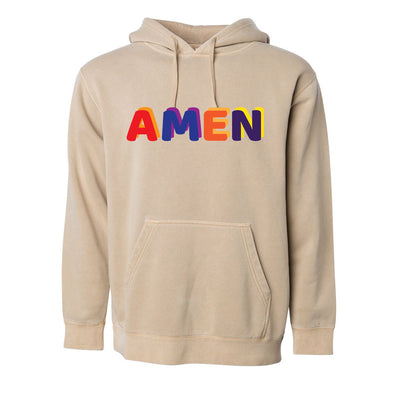 Amen - Pigment Dyed Hooded Pullover