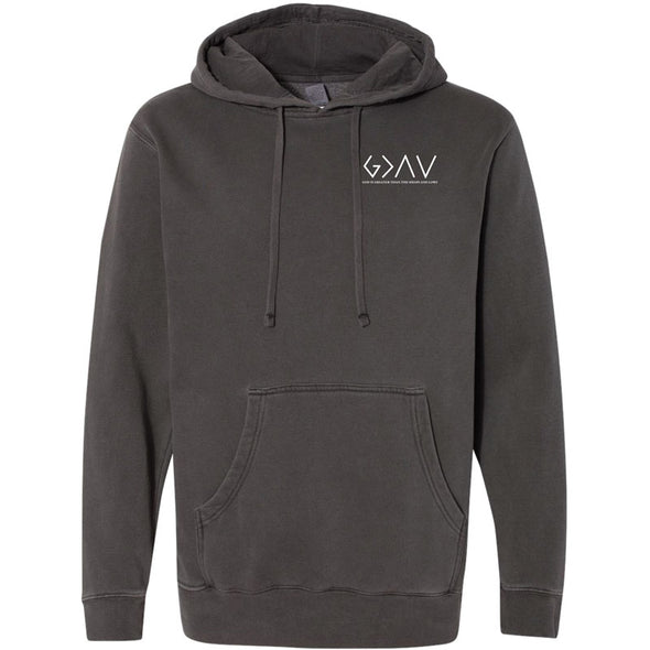 God Is Greater - Pigment Dyed Hooded Pullover