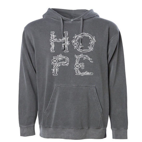 Hope - Pigment Dyed Hooded Pullover