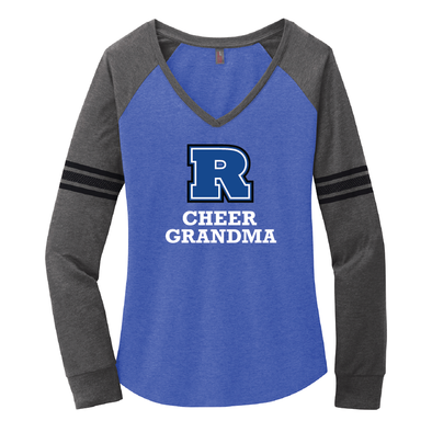 Cheer - Women's Game Long Sleeve V-Neck Tee