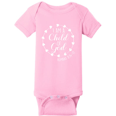 Child of God - Infant Short Sleeve Baby Rib Bodysuit