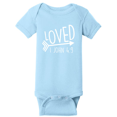 Loved - Infant Short Sleeve Baby Rib Bodysuit