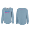 RS 2 Tone Women's California Wave Wash Crewneck Sweatshirt