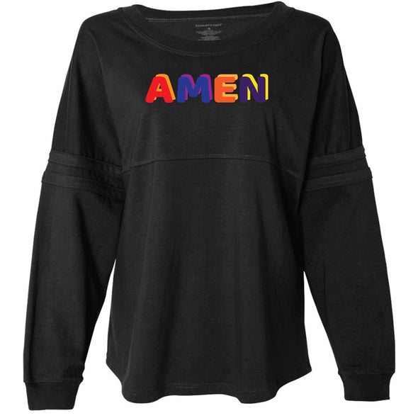 Amen - Jersey Pom Pom Long Sleeve T-Shirt