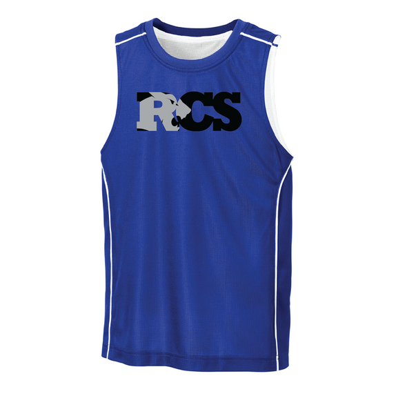 Sport-Tek® Youth PosiCharge® Mesh Reversible Sleeveless Tee