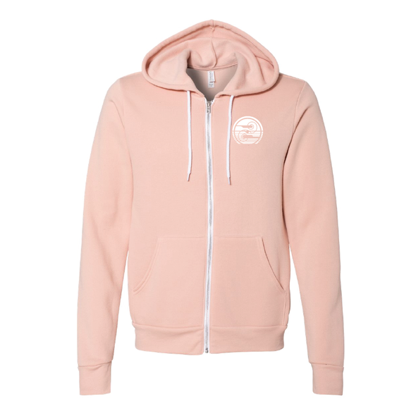 BELLA + CANVAS - Unisex Sponge Fleece Full-Zip Hoodie - Retro Line Logo