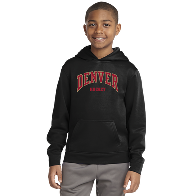 Denver Hockey Youth Black Pullover Hoodie