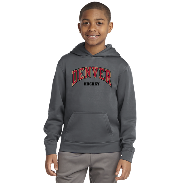 Denver Hockey Youth Dark Smoke Pullover Hoodie