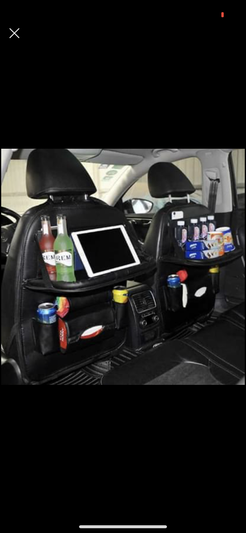Car seat Back Organiser