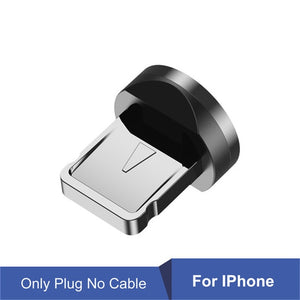 540 Degree Rotating Magnetic Cable Micro USB Type C  For iPhone11 Pro XS