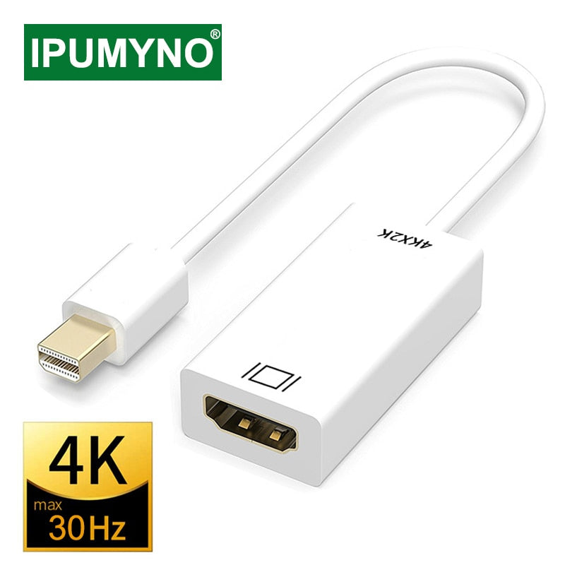 Mini Display Port To HDMI-Compatible Cable 4k for TV Projector