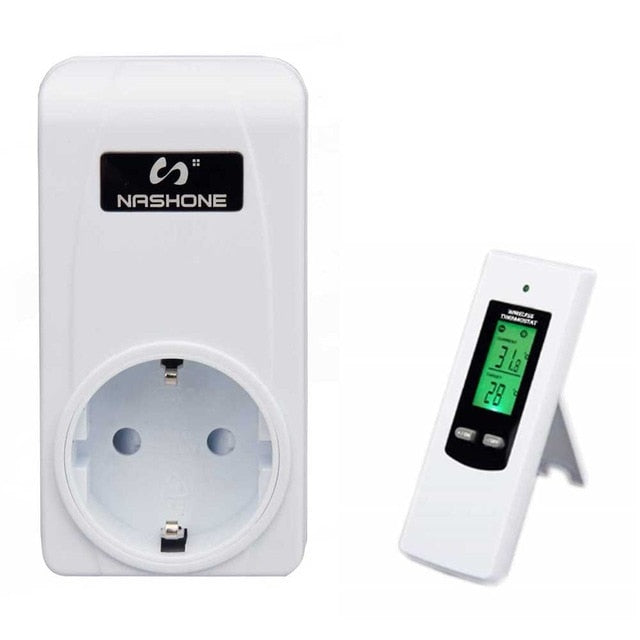 Nashone Digital Thermostat 220V  LCD Remote control socket with Heating Thermostatf