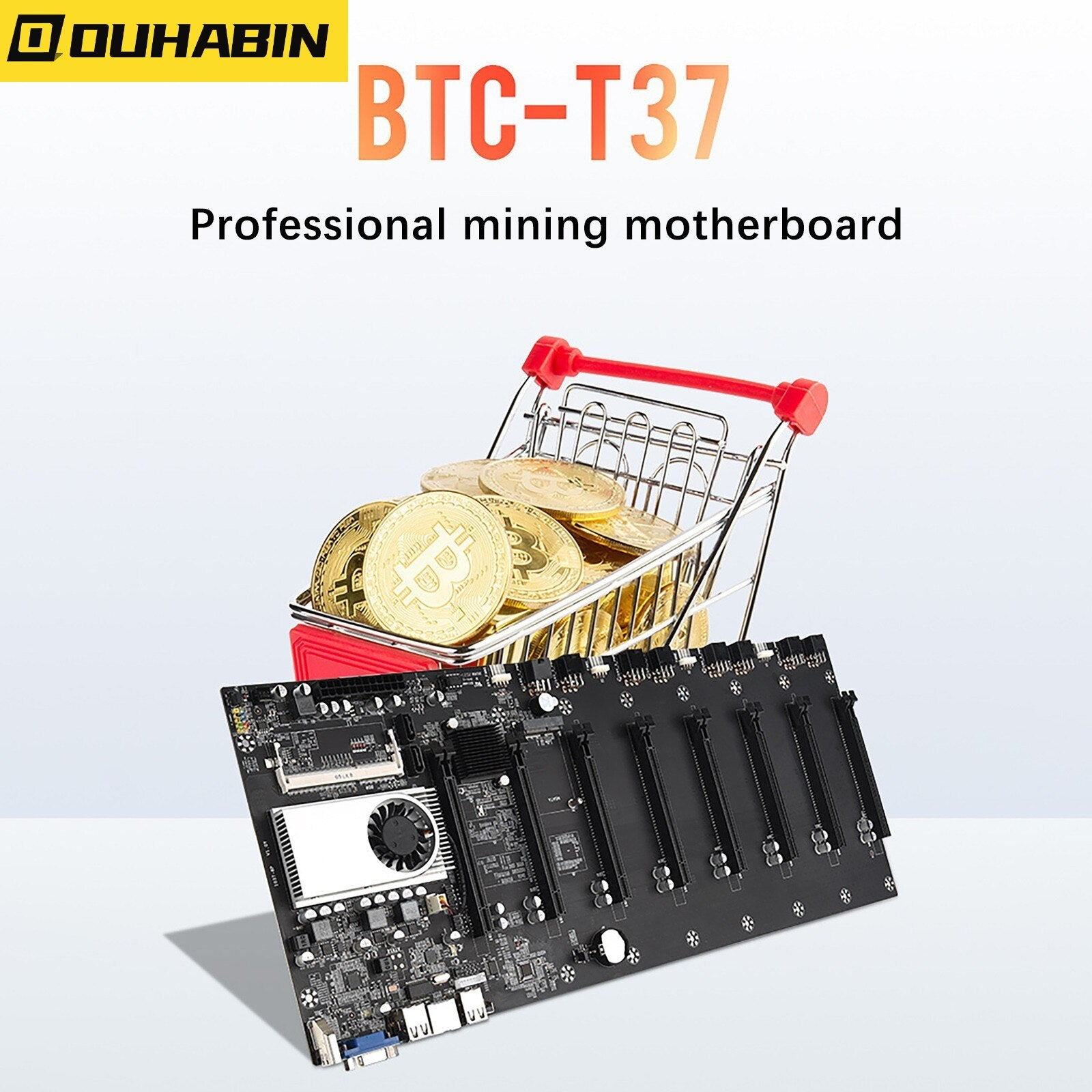 Computer Accessories Mining Machine Motherboards  Set 8 Graphic Card