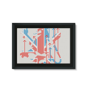 Union Jacker Rules The World Framed Eco-Canvas