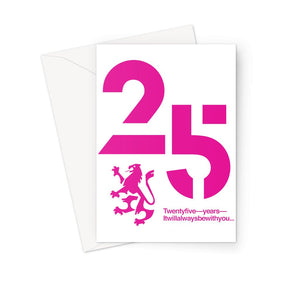 25 Pink  Greeting Card