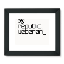 Load image into Gallery viewer, The People's Republic  __  Veteran Framed Fine Art Print