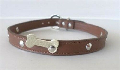 Italian Leather Collars & Leads with Bone detail - rovers-kit