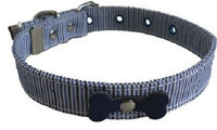 Fabric collars & leads with bone detail - rovers-kit