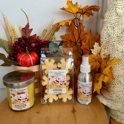 Amish Country Cinnamon Rolls 10 oz candle, wax tarts and room spray