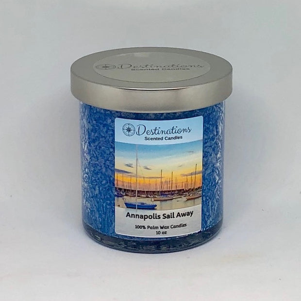 Annapolis Sail Away 10 oz candle, wax tarts and room sprays