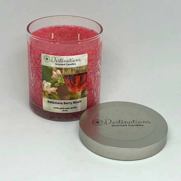 Baltimore Berry Blush 10 oz candle, wax tarts, and room spray