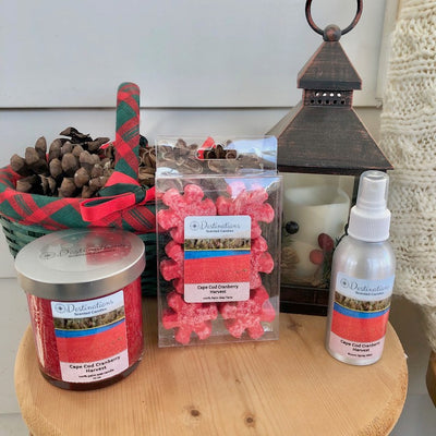 Cape Cod Cranberry Harvest 10 oz candle, wax tarts and room sprays