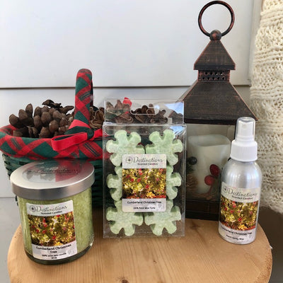 Cumberland Christmas Tree 10 oz candle, wax tarts and room spray