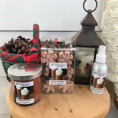 Hershey Hot Cocoa 10 oz candle, wax tarts, and room spray