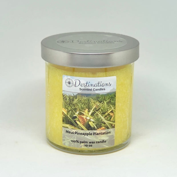 Maui Pineapple Plantation 10 oz candle, wax tarts, and room spray
