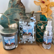 New England Lighthouse 10 oz candle, wax tarts, and room sprays