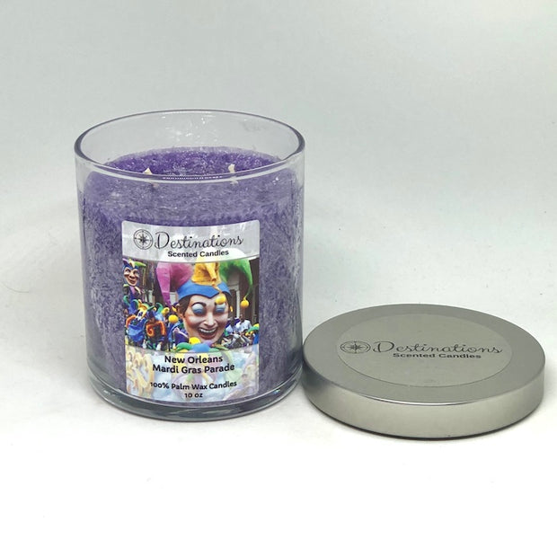 New Orleans Mardi Gras Parade 10 oz candle, wax tarts, and room sprays