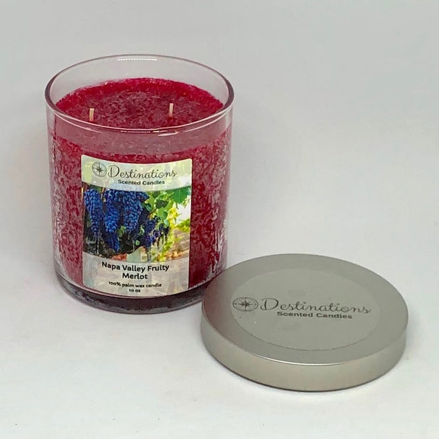 Napa Valley Fruity Merlot 10 oz candle, wax tarts, and room spray