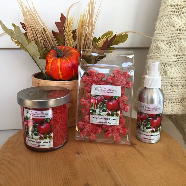 New York Apple Orchard 10 oz candle, wax melts, and room spray
