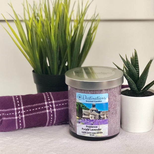 Provence Purple Lavender 10 oz candle, wax tarts and room sprays