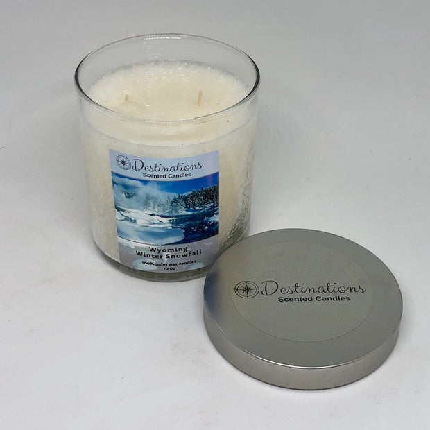 Wyoming Winter Snowfall 10 oz candle, wax tarts, and room spray