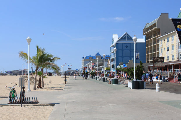Ocean City Maryland Boardwalk on a clear day