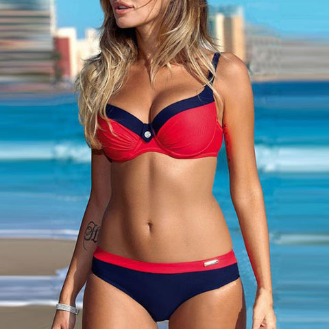 Lightweight Plain High-Rise Bikini-swimwear-PMS-Red-xl-Gofiala