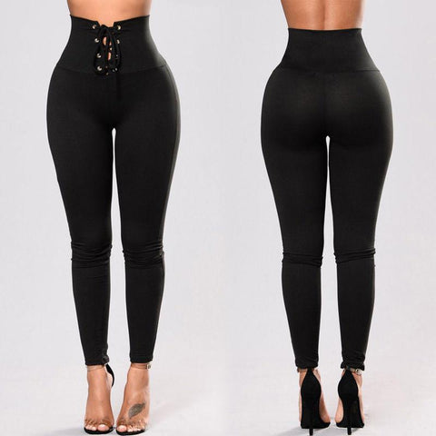 Sexy Pure Color Yoga Pants With Rivet-Pant-PMS-Black-xl-Gofiala