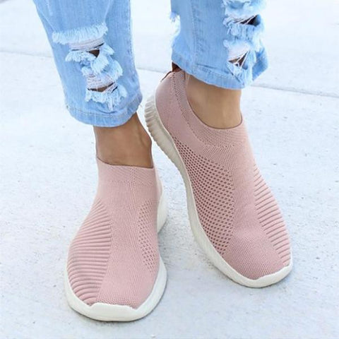 Comfortable Flying Woven Casual Shoes-Flat-PMS-Pink-37-Gofiala