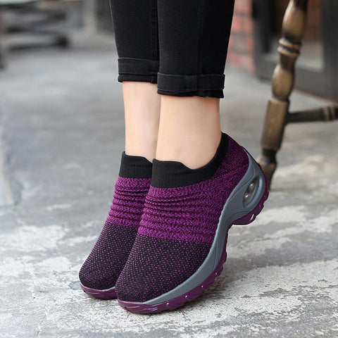 Female Stability Athletic Sneakers Fitness Sport Shoes-Flat-PMS-Purple-35-Gofiala