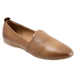 Fashion Pointed Head Plain Split Joint Hollow Flat Shoes-Flat-PMS-Apricot-US 9.5(EUR 41)-Gofiala