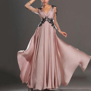 Pink Elegant Lace Wedding Banquet Dress-Wedding dress & Evening Dress-PMS-Pink-s-Gofiala