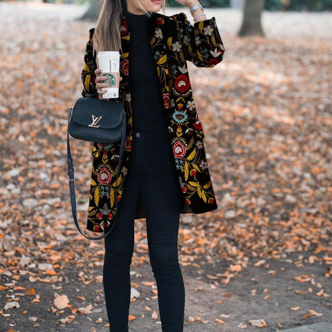 Autumn And Winter Fashion Printed Long-Sleeved Suit Jacket-Coat-PMS-Same As Photo-s-Gofiala