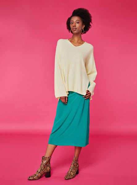 Blake Midi Skirt_Solid Green