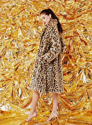 Gwyneth Faux Fur Coat_African Leopard